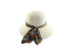 Cappello femminile bianco Immagini Stock Libere da Diritti