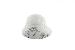 Cappello femminile bianco Fotografie Stock Libere da Diritti