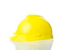 Cappello giallo duro per lavoro industriale, ingegneri, isolat dell'architetto Immagine Stock