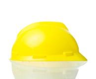 Cappello giallo duro per lavoro industriale, ingegneri, isolat dell'architetto Fotografia Stock Libera da Diritti