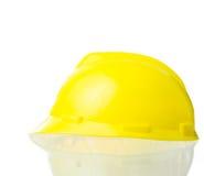 Cappello giallo duro per lavoro industriale, ingegneri, isolat dell'architetto Fotografie Stock Libere da Diritti