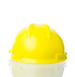 Cappello giallo duro per lavoro industriale, ingegneri, isolat dell'architetto Fotografie Stock
