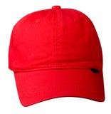 Cappello isolato su priorità bassa bianca Cappello con una visiera Cappello rosso Fotografie Stock