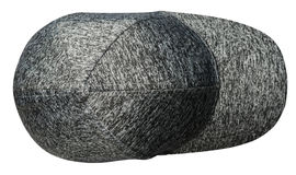 Cappello isolato su priorità bassa bianca Cappello con una visiera ha variegato Immagine Stock Libera da Diritti