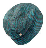 Cappello isolato su priorità bassa bianca Cappello lavorato a maglia cappello variegato Fotografia Stock Libera da Diritti