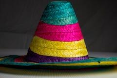 Cappello messicano tradizionale con i colori fotografia stock libera da diritti