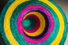 Cappello messicano tradizionale con i colori fotografie stock libere da diritti