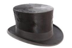 Cappello molto vecchio del cappello a cilindro Immagine Stock