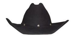 Cappello nero del cowboy Immagine Stock