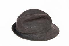 Cappello nero del velluto Fotografia Stock