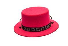 Cappello netto rosa dell'isolato Fotografia Stock