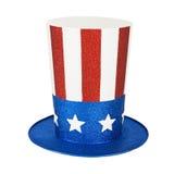 Cappello patriottico americano frizzante Immagini Stock