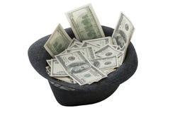 Cappello in pieno di soldi Fotografia Stock Libera da Diritti