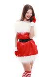 Cappello rosso del Babbo Natale Immagini Stock Libere da Diritti