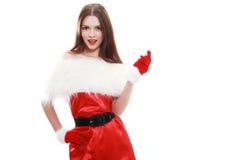 Cappello rosso del Babbo Natale Immagine Stock Libera da Diritti