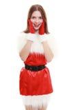 Cappello rosso del Babbo Natale Fotografia Stock
