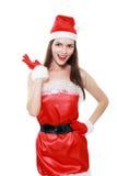 Cappello rosso del Babbo Natale Fotografia Stock Libera da Diritti