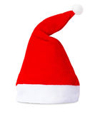 Cappello rosso del Babbo Natale isolato Fotografia Stock Libera da Diritti