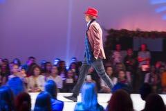 Cappello rosso maschio di Sofia Fashion Week fotografia stock
