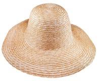 Cappello rurale semplice del vasto-bordo della paglia fotografia stock libera da diritti