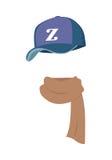 Cappello Sport contemporaneo Violet Cap con la lettera di Z Immagine Stock