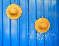 Cappello sulla parete Fotografie Stock Libere da Diritti