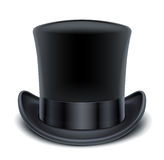Cappello superiore nero Fotografia Stock