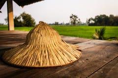 Cappello tailandese dell'agricoltore Fotografia Stock