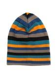 Cappello tricottato colorato a strisce Fotografia Stock Libera da Diritti