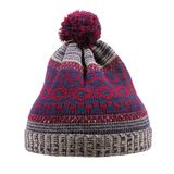 Cappello tricottato di inverno della lana con il pom del pom isolato su bianco Immagine Stock Libera da Diritti