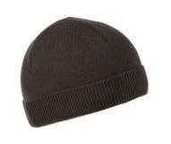 Cappello tricottato isolato su fondo bianco Immagine Stock Libera da Diritti