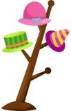 Cappello variopinto su una cremagliera illustrazione di stock