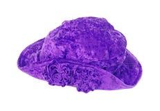 Cappello viola del fiore di svago Fotografia Stock