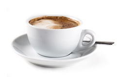 Cappiccino. Nice cup of cappuccino isolated on white background Royalty Free Stock Images