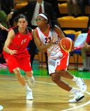 Cappie Pondexter playing ball Royalty Free Stock Images