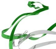 Cappio verde del nastro Fotografia Stock Libera da Diritti