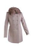 Cappotto beige di inverno Fotografia Stock Libera da Diritti