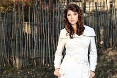 Cappotto bianco Immagini Stock