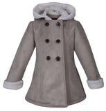 Cappotto del cuoio del bambino immagine stock