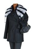 Cappotto della femmina di inverno Fotografia Stock