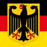 Cappotto della Germania del braccio e della bandiera Fotografia Stock