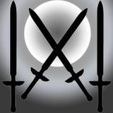 Cappotto della siluetta della spada di Siver Sun delle braccia Immagine Stock Libera da Diritti