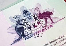 Cappotto delle braccia australiano Fotografia Stock Libera da Diritti