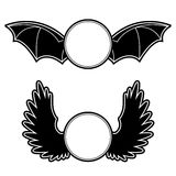 Cappotto delle braccia con le ali Immagine Stock Libera da Diritti