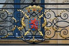 Cappotto delle braccia del Lussemburgo Fotografia Stock Libera da Diritti