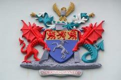 Cappotto di Lingua gallese delle armi - Gwynedd Fotografia Stock Libera da Diritti
