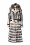 Cappotto di pelliccia in bianco e nero Fotografie Stock Libere da Diritti