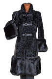 Cappotto di pelliccia femminile immagini stock libere da diritti