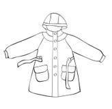 Cappotto di pioggia Fotografia Stock