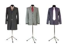 Cappotto e camicia del rivestimento con il legame sul manichino Immagine Stock Libera da Diritti
